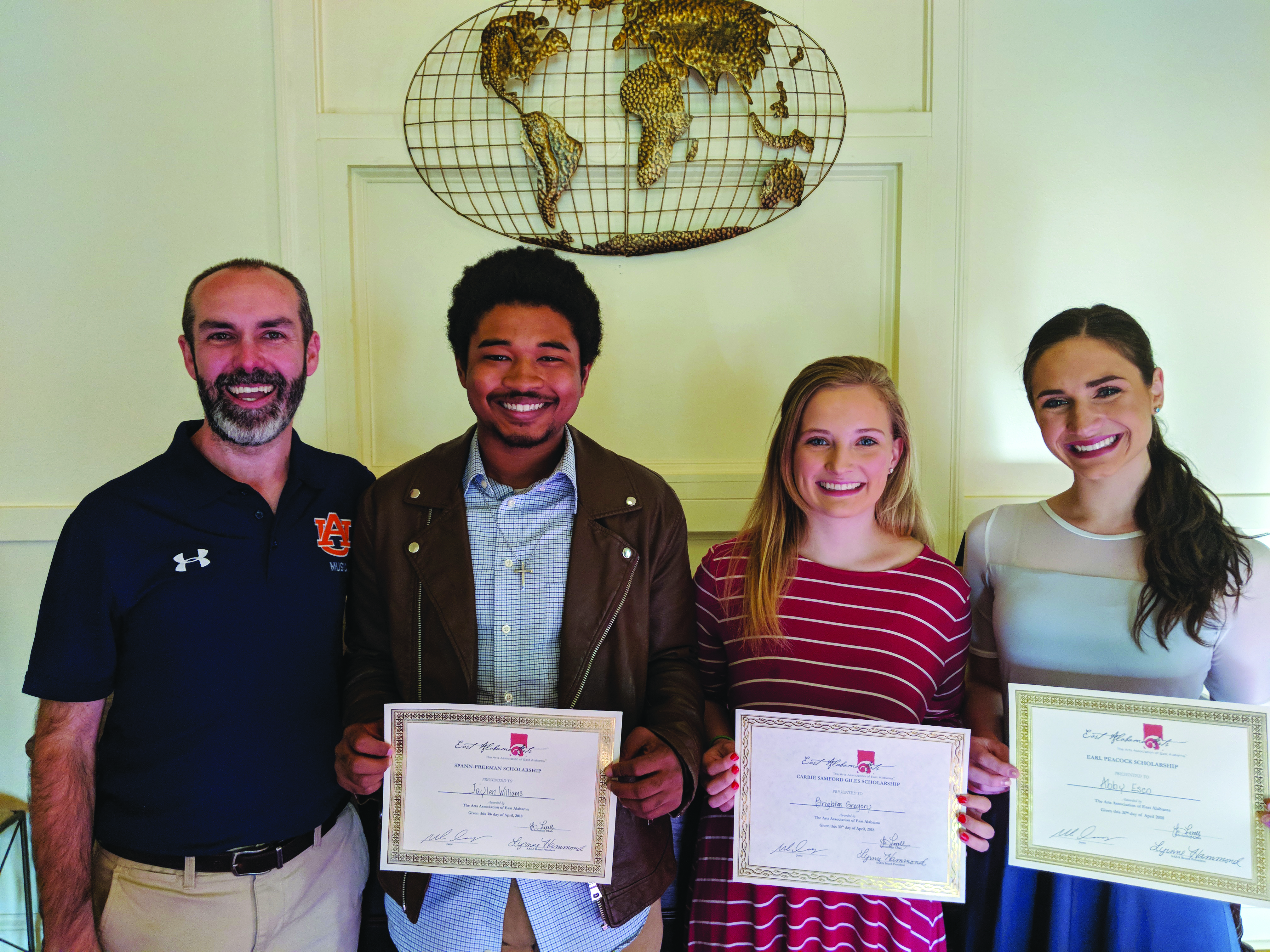 Four Area High School Seniors Receive Fine Arts Scholarships